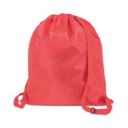 C105-sac à dos grande modèle en polyester rouge