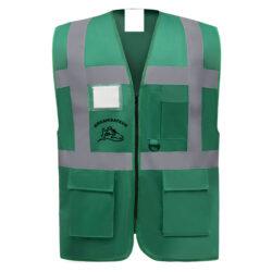 CA29-Gilet de sécurité mutlifonction zippé marquage staff