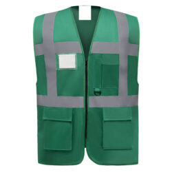 CA29-Gilet de sécurité mutlifonction zippé vert