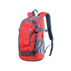 D168 - Sac à dos de randonnée 40L polyestermatelassé personnalisable rouge