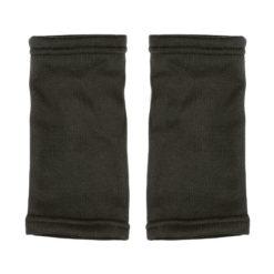 D184N Gant mitaine polyester noir pour running