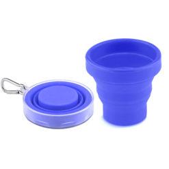 DA1 Tasse en silicone pliabl bleue perosnnalisable avec marque et logo