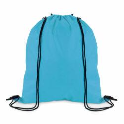 DA9-sac à dos à cordons 100% polyester 210 deniers turquoise