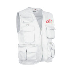 F12 Gilet reporter 11 poches blanc