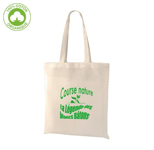 H27 tote bag en coton bio personnalisé avec un logo
