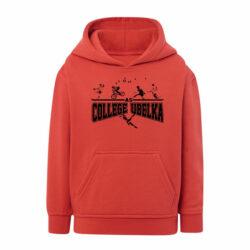 J2E-Sweat shirt enfant à capuche et poche kangourou avec marquage pour association sportive de collège