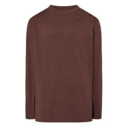J4H-J4E-Tee-shirt à manches longues 100% coton marron