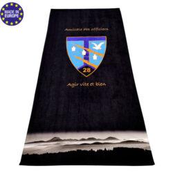 Serviette double face coton polyester avec impression en sublimation totale