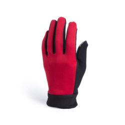 D193gant tactile rouge 100% polyester avec paume anti dérapante