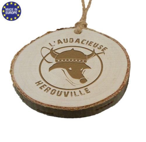 PDL Médaille en bois de bouleau écologique, personnalisable par gravure au laser