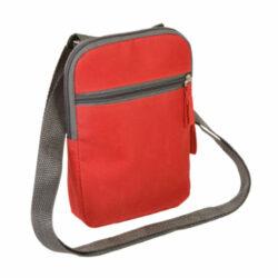 S41 Sac bandouillère rouge personnlisable en sérigraphie pour sdotations sportives ou cadeaux associatifs