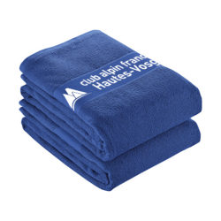 S42 - Serviette bleue 100% coton pour impression en sérigraphie