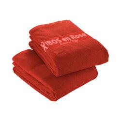 S42 - Serviette rouge 100% coton pour impression en sérigraphie