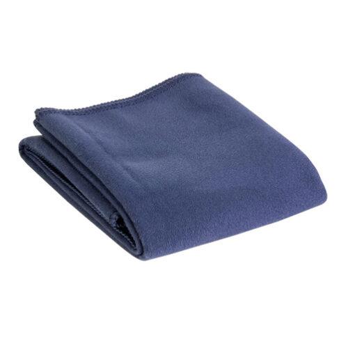 S56 Serviette en polyester avec pochette bleu marine