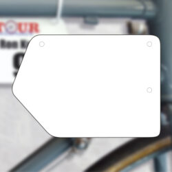 Plaque de cadre en PVC customisable recto verso avec logo et numérotation