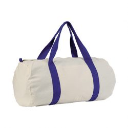 Y1- Sac de sport bleu roi et blanc100% coton