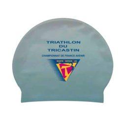 Bonnet de bain marquage personnalisable aquathlon