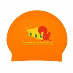 Bonnet de bain marquage logo club triathlon