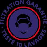 Filtration garantie testé 10 lavages USN1