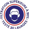 Logo filtration garantie testé 30 lavage USN1