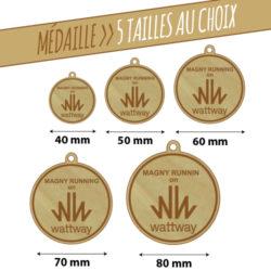 Médailles en bois gravées au laser, différentes tailles et formats disponibles !