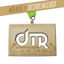 Médaille en bois gravée et découpée au lasaer pour dotation sportive