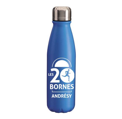 S47-bouteille en aluminium avec bouchon d'acier marquage tampographie