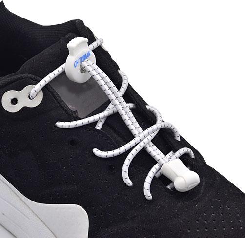 Sun1 - Lacets élastiques avec clip de bloquage pour dotations sportives