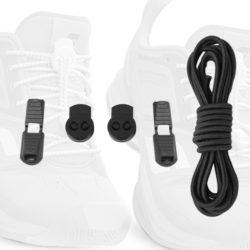 sun1-pair de lacet clip auto cadeau running triathlon lock laces noir