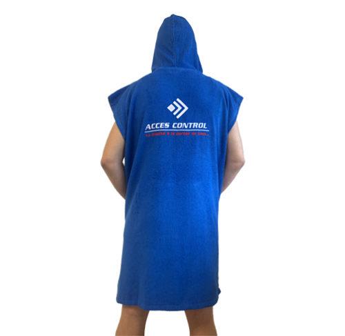 SURF - Poncho de bain à capuche et poche ventrale 100% coton