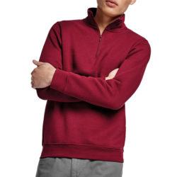 T76-Sweat shirt au col zippé 280grs/m² coton et polyester