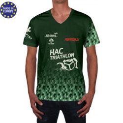 tshv1 - t-shirt club polyester flocage marquage dotation avec logo